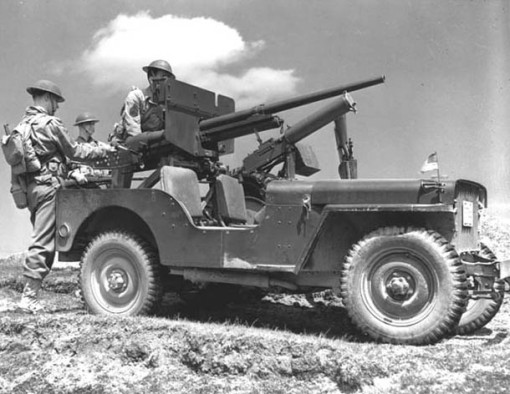 A jeep in New Foundland - 1942.