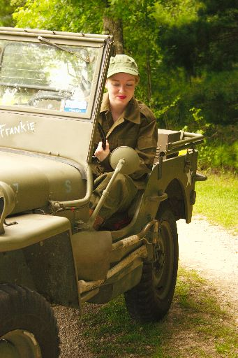 Sometimes the WW2 jeep can be hard to shift.