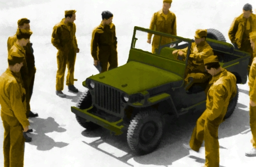 Lots of jeeps went overseas to help the Allies win the war against the Axis nations.