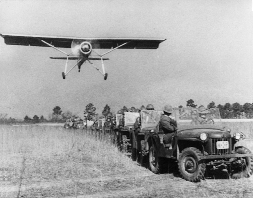 The new Bantam jeeps on one of the first field tests.