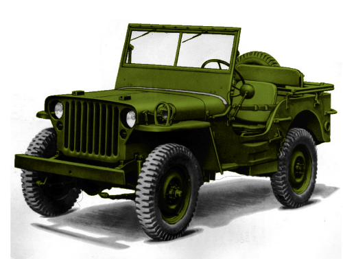 "The Willys MB and the Ford GPW made up the bulk of WW2 production in ""jeeps""."